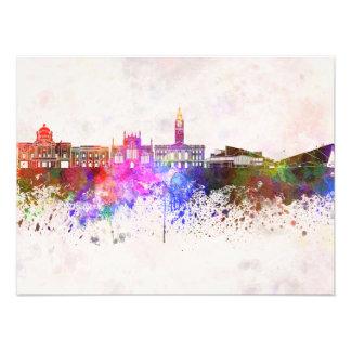 Kingston Upon Hull skyline im Watercolor backgroun Photo Drucke