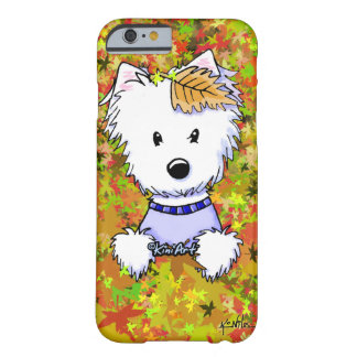 KiniArt Herbst Westie Barely There iPhone 6 Hülle