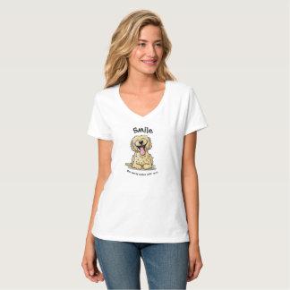 KiniArt lächelndes Gekritzel T-Shirt