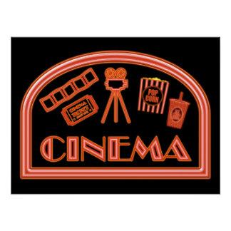 Kino-Leuchtreklame Perfektes Poster