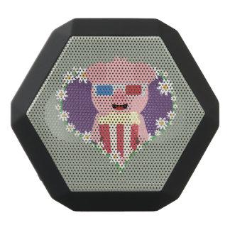 Kino-Schwein mit Blumenherzen Zvf1w Schwarze Bluetooth Lautsprecher