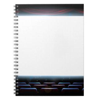 Kino-Theater-Schirm Notizblock