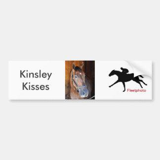 Kinsleys Küsse Autoaufkleber