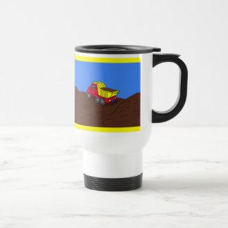 Kipper-rote und gelbe Cartoon-Kunst Reisebecher