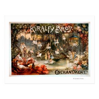 Kiralfy Bruder-Verzauberungs-Theaterplakat Postkarte