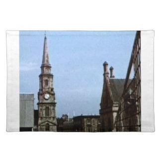 Kirche Art1a snap-40380 Schottlands Inverness Stofftischset