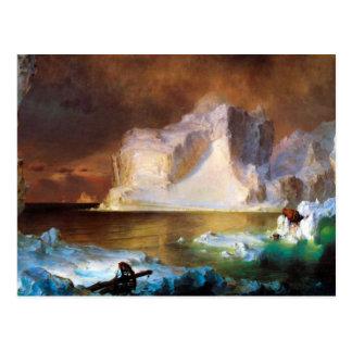 Kirche Frederic Edwin - Eisberg Postkarte