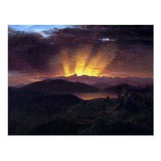 Kirche Frederic Edwin - nach dem Ausglühen Postkarte