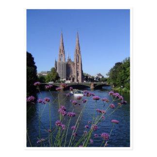 Kirche Heilige-Paul von Straßburg Postkarte