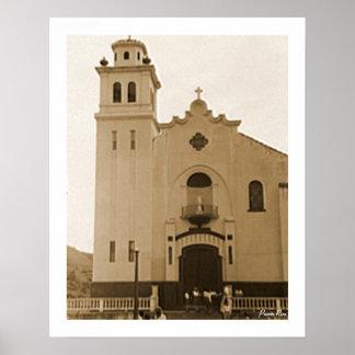 Kirche in Barranquitas, Geschichte, Puerto Rico Poster