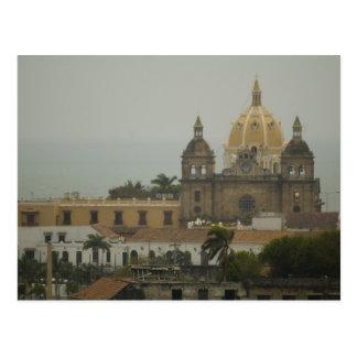 Kirche in Cartagena, Kolumbien Postkarte