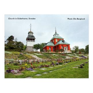 Kirche in Söderhamn, Schweden, Pho… Postkarte