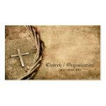 Kirche/Organisation gealterte QuerVisitenkarte