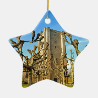Kirche Sint Anna ter Muiden in Sluis, die Keramik Ornament