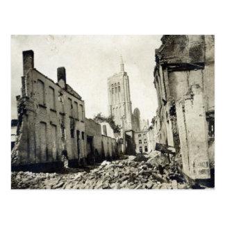 Kirche St. Jakobs, Ypres, im Juni 1915 Postkarte