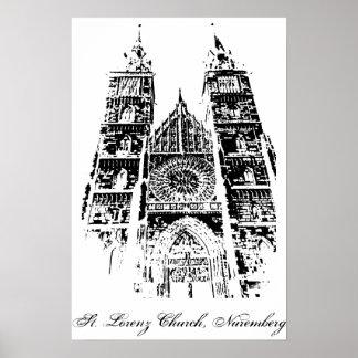Kirche St. Lorenz, Nürnberg Poster
