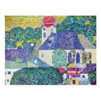 Kirche St. Wolfgang durch Gustav Klimt, Postkarte