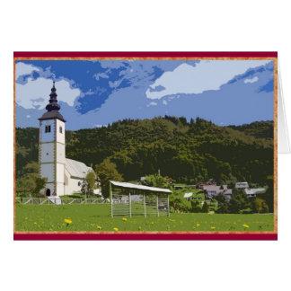 Kirche und Stadt von Jereka, Slowenien Karte