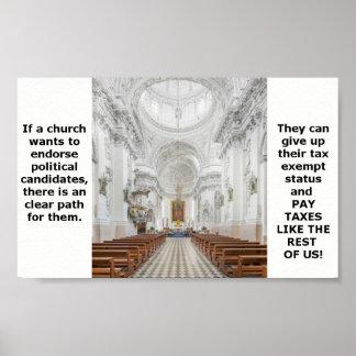 Kirche und Steuern Poster