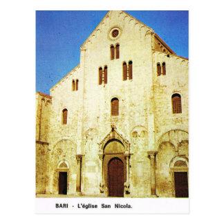 Kirche Vintagen Italiens, Bari, Sankt Nikolaus Postkarte