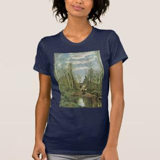 Kirche von Marissel durch Corot T-Shirt