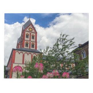 Kirche von St Bartholomew, Lüttich, Belgien Notizblock