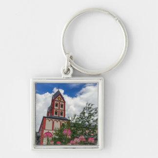 Kirche von St Bartholomew, Lüttich, Belgien Schlüsselanhänger
