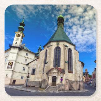 Kirche von St. Catherine, Banska Stiavnica, Rechteckiger Pappuntersetzer