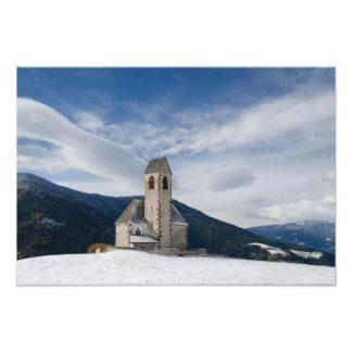 Kirche von St. Jakob im Villnöss Fotodruck