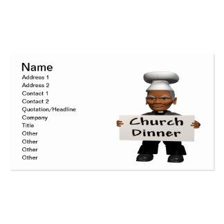 Kirchen-Abendessen Visitenkarten