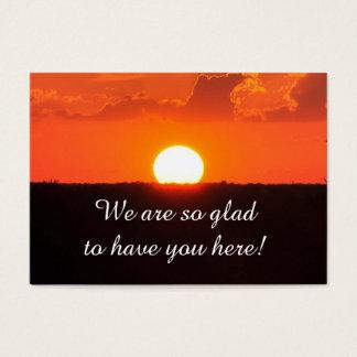 Kirchen-Besucher-Sonnenuntergang-Karte Jumbo-Visitenkarten