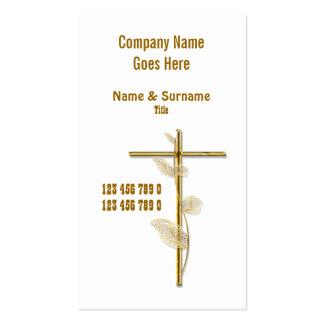 Kirchen-Christus-Religionskreuz-Goldweiß Visitenkarten