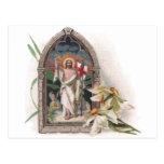 Kirchen-Fenster-Auferstehung von Christus Postkarte