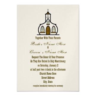 Kirchen-Hochzeits-Einladung - zusammen mit Eltern 12,7 X 17,8 Cm Einladungskarte