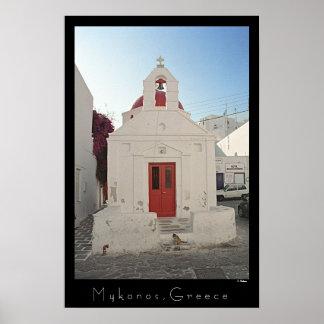 Kirchen-Miezekatze - Mykonos Poster