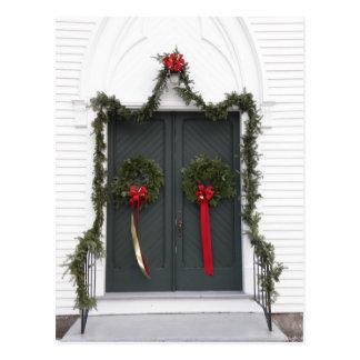 Kirchen-Tür am Weihnachten Postkarte