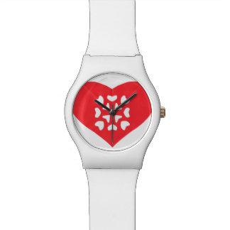 Kirigami Japaner Papercutting Rot-Herz Armbanduhr