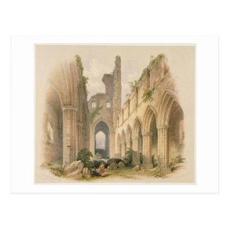 Kirkstall Abtei, der Nave und Chor, 'vom Montag Postkarte