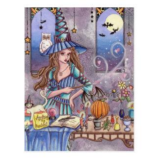 Kirra - Hexe-, Katzen-und Eulen-Postkarte Postkarte