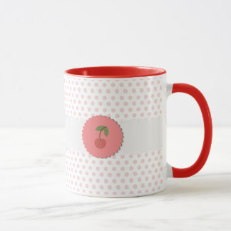 Kirsch{rosa} Polka-Punkt-Tasse Tasse