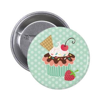 Kirsch-u Minzen-kleiner Kuchen Buttons
