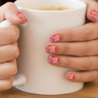 Kirsch-und Blüten-rosa Neonnägel Minx Nagelkunst