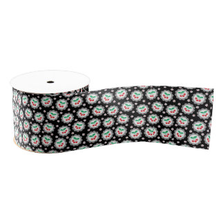 Kirsch-und Gänseblümchen-Muster-Band Ripsband
