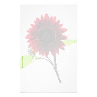 Kirsch-und Schokoladen-Sonnenblume Briefpapier
