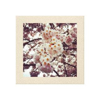 Kirschbaum in der Blüte Leinwanddruck
