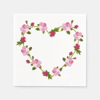 KirschBlumen-Herz Papierserviette