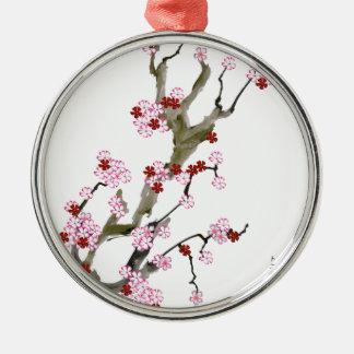 Kirschblüte 16 Tony Fernandes Silbernes Ornament