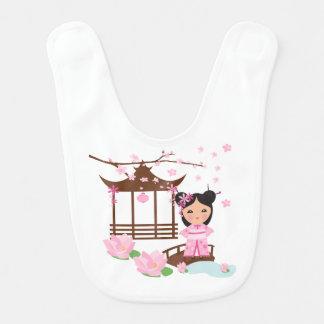 Kirschblüte-Blume cherryblossom - Mädchen in Japan Lätzchen