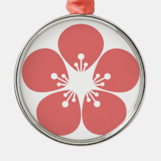 Kirschblüte-Blüte Silbernes Ornament