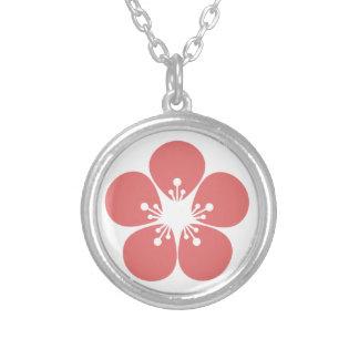 Kirschblüte-Blüte Versilberte Kette